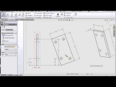 SolidWorks: True vs Projected Dimensions