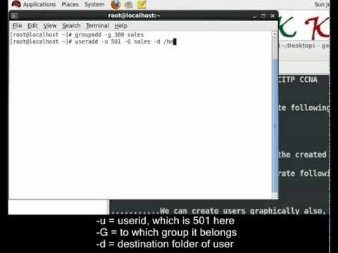How to create Advanced Users and Groups using terminal in linux (Demo in Redhat)
