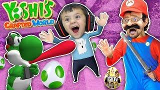 YOSHI EATS SHAWN!! Yoshi's Crafted World Plays w/ FGTEEV Mario (Skit/Gameplay)