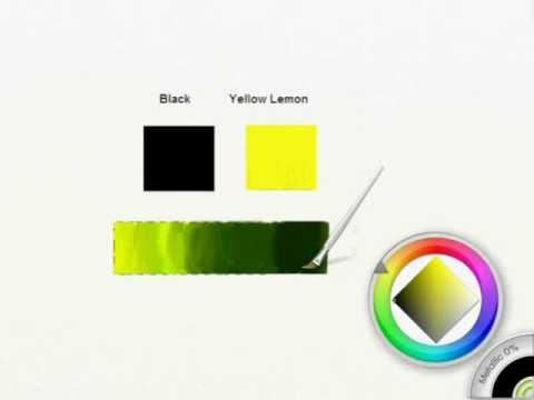 How to get olive green shades in ArtRage