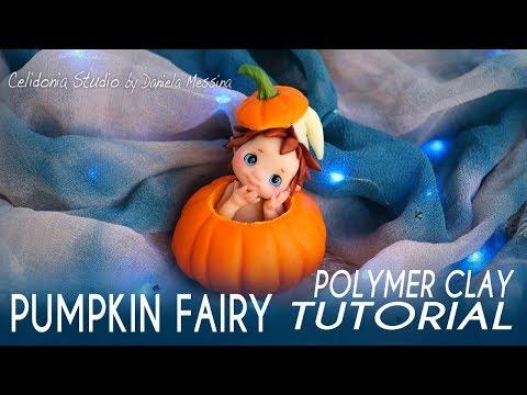 Halloween Pumpkin Fairy | Polymer Clay Tutorial | Simple Fairy