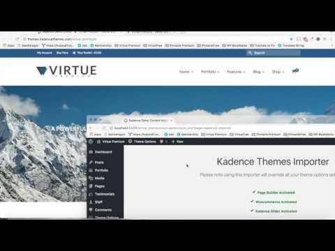 Kadence Themes Importer