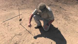 Sun Compass Shadow Stick Method
