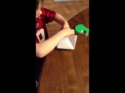 Making a paper alien