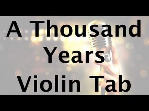 Learn A Thousand Years on Violin - How to Play Tutorial