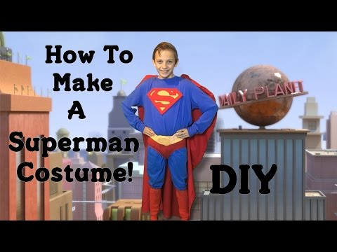 Make Your Own Superman Costume! (DIY)
