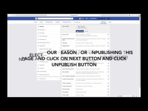 HOW TO UNPUBLISH OR PUBLISH YOUR FACEBOOK PAGE