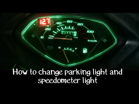 how to change parking light, and speedometer light