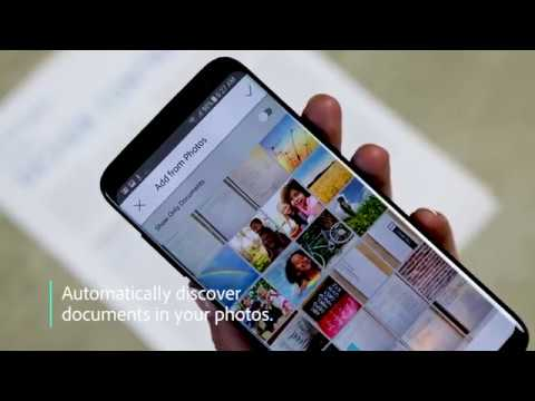 Quickly find pictures of documents and receipts in your photos with the Adobe Scan mobile app