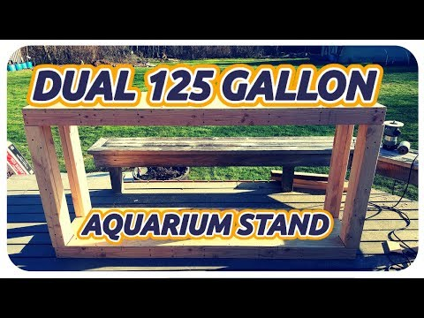 DIY DOUBLE 125 GALLON AQUARIUM STAND
