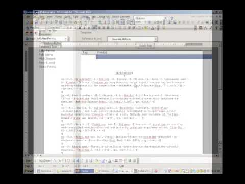 Advanced Endnote--Importing an Unformatted Bibliography