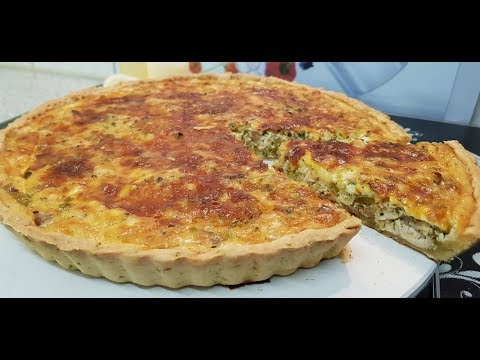 Chicken And Green Onions Quiche چکن اینڈ گرین اونین قیش / Cook With Saima
