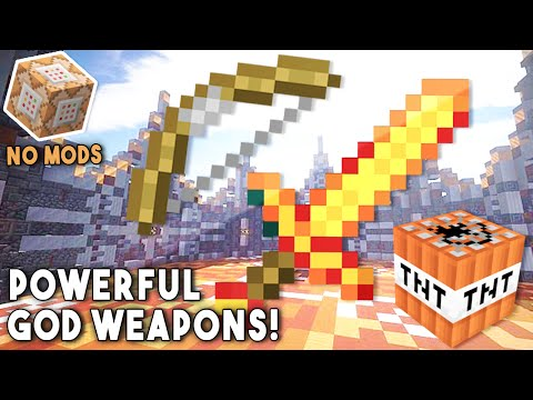 POWERFUL GOD WEAPONS (Using One Command) - Minecraft [No Mods]