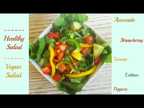 How to make a healthy garden Salad | Salad Recipe | with Avocado and Strawberries