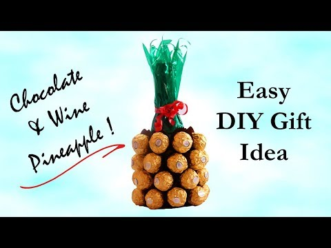 DIY Gift Idea | Wine & Chocolate Pineapple Bouquet | Valentine's Day Gift Ideas
