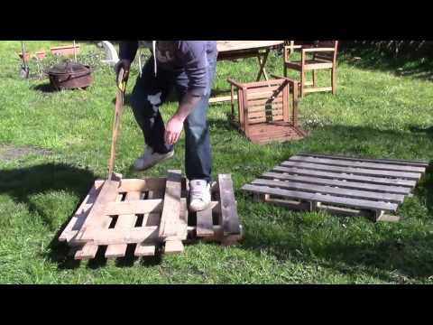 Building a Raised Bed from Pallets