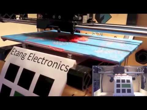 Etang Electronics 3D Printer dual extruder - 3D Printing Demonstration - UK