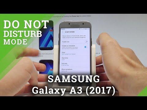 How to Allow Do Not Disturb in SAMSUNG Galaxy A3 (2017) - Mute Mode  HardReset.Info