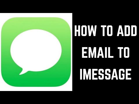 How to Add Email to iMessage