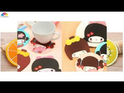 custom soft PVC cup,tea coffee mats,beer coaster,Beverage coaster China factory