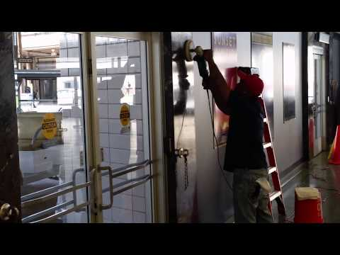 Marble wall cleaning and polishing - New Orleans, La