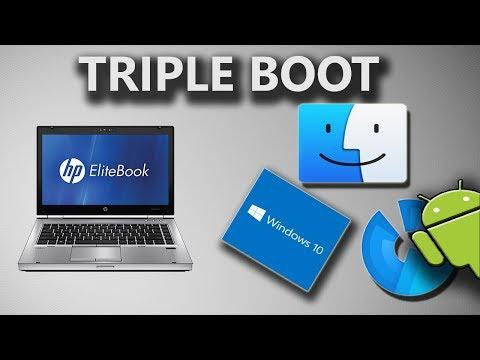 hp elitebook 8460p running mac os + windows 10 + phoenix os (android) - single hard drive !