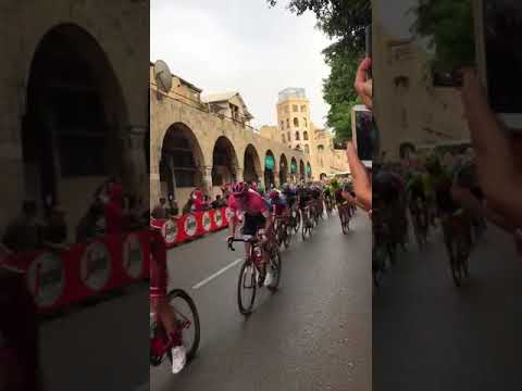 Giro d'Italia cycling grand tour - Tel Aviv, Israel - Jerusalem Boulevard Jaffa. May 2018