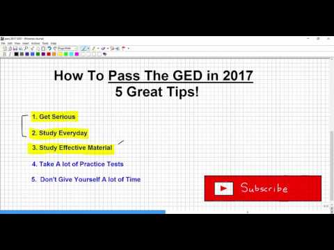 How to Pass The GED 2017