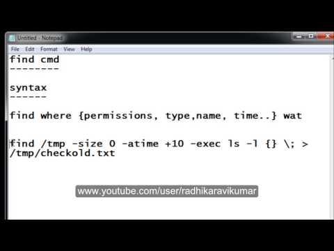 Unix: Find Command