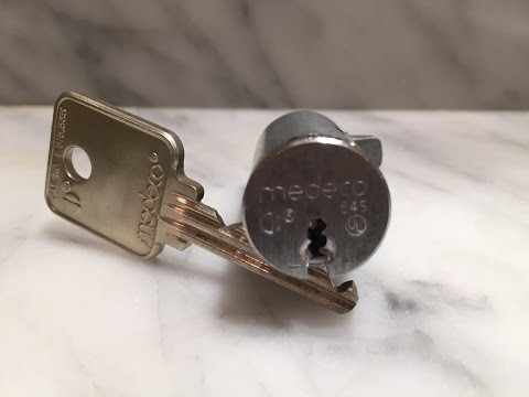 Medeco 5 Pin Biaxial T-Handle Lock - Picked Open