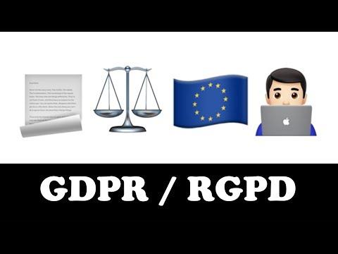 GDPR / RGPD expliqué en emojis