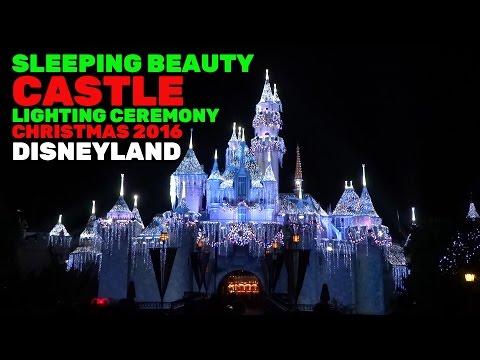 Sleeping Beauty Castle holiday lighting ceremony for Christmas season 2016 at Disneyland