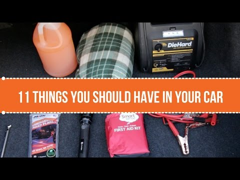 11 Things You Should Always Have in Your Car