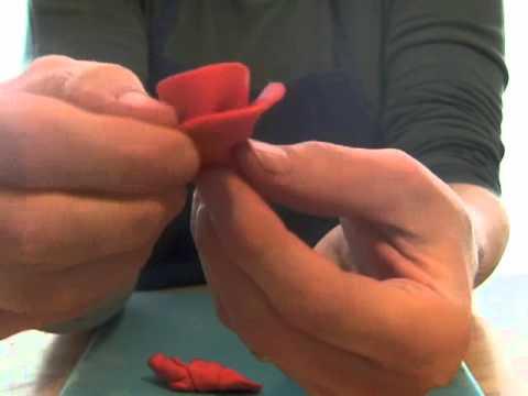 Rolled Fondant Ribbon Roses