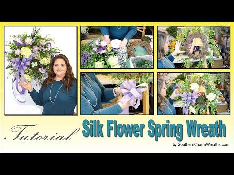 How to Make Silk Flower Spring Wreath Sneak Peek