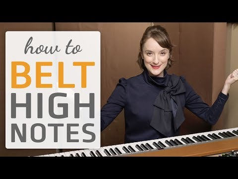how to belt high notes when you sing - vocal exercise
