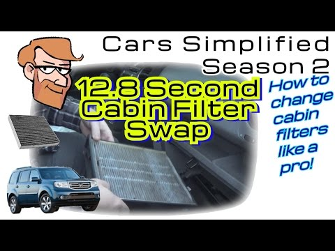 Honda Pilot (2009-2015) Cabin Filter Replacement in 13 Seconds! • Cars Simplified