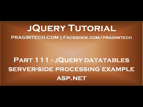 jQuery datatables server side processing example asp net
