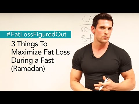 3 Things To Maximize Fat Loss During Ramadan