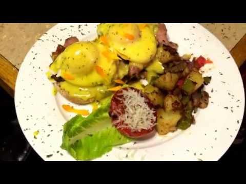 Asparagus Eggs Benedict Recipe Hollandaise Sauce Ham Shrimp