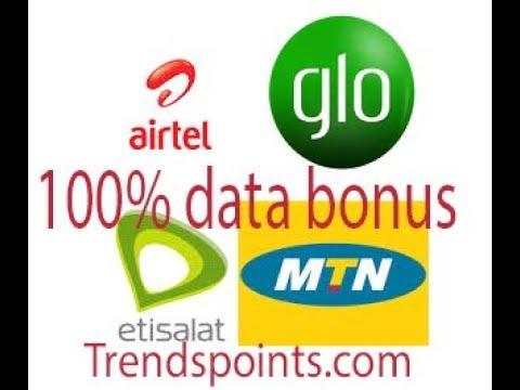 Enjoy 100% Double Data Bonus On Mtn Network