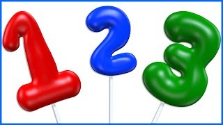 Numbers with Gas Balloons | Learn to Count From 1 To 10