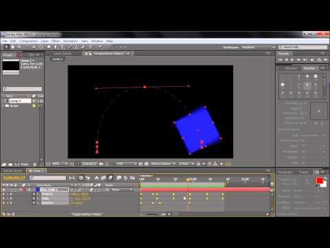60 Second After Effects Tutorial : Adjust Animation Speed by Scaling Keyframes -HD-