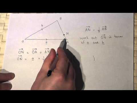 Vectors: Triangles and vectors