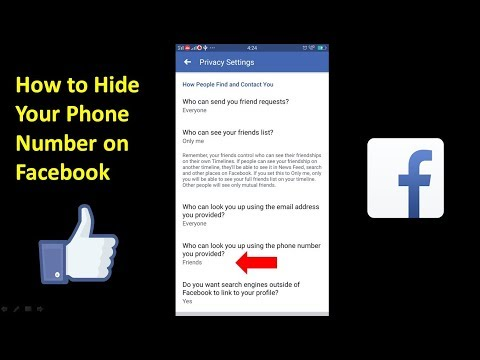 How to Hide Your Phone Number on Facebook on Mobile 2018 | Mobile App