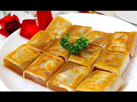 傳統香煎年糕 Nian Gao with Egg Recipe / Chinese New Year Sticky Rice Cake / Pan fried Glutinous Rice Cake