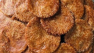Nuvvula Ariselu In Sweet Shop Style - Traditional Sweets In India   Rice Flour & Jaggery Sweet