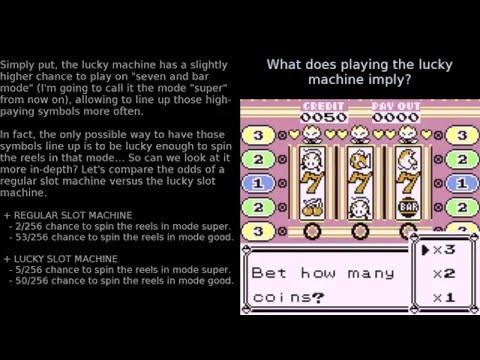 Pokemon R/B/Y - Mechanics and hidden secrets of slot machines