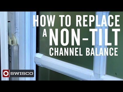 How to replace a non-tilt window channel balance
