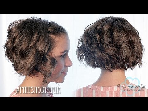 FLAT IRON CURLS FOR SHORT HAIR! ❤❤